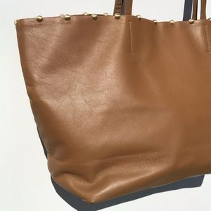 CYNTHIA ROWLEY studded leather tote